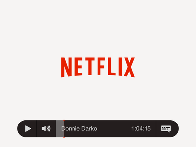 TV App – Daily UI #025 darko donnie netflix app tv 025 dailyui