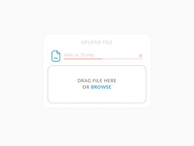 File Upload – Daily UI #031 upload file 031 dailyui