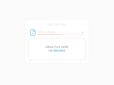 File Upload – Daily UI #031 upload file 031 dailyui