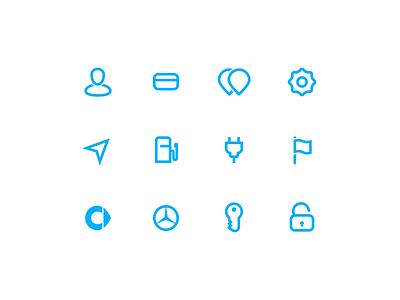 car2go Icon Suite web symbol suite set icons iconography glyphs app car2go