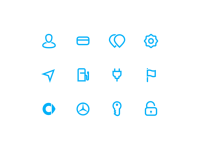 car2go Icon Suite web symbol suite set icons iconography glyphs app car2go