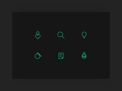 Design Thinking Icons outline thinking icon design