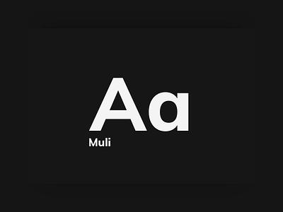 Muli Typeface typography web type muli font typeface