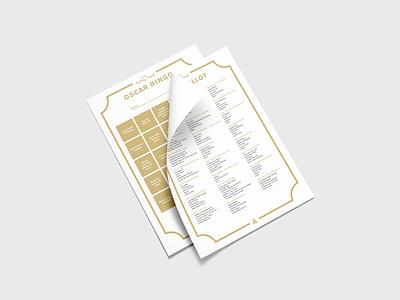 Oscar 2019 Ballot & Bingo – Free Download minimal simple mockup design mockup paper print pdf 2019 download free bingo ballot oscars