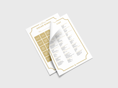 Oscar 2019 Ballot & Bingo – Free Download minimal simple mockup design mockup paper print pdf 2019 download free bingo ballot oscars