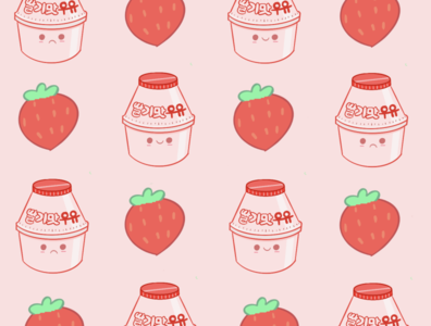 Banana & strawberry milk wallpaper cute art strawberry banana huawei wallpaper