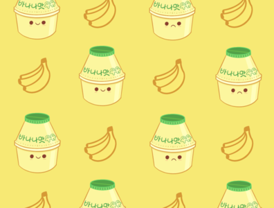 Banana milk wallpaper illustration wallpaper huawei banana