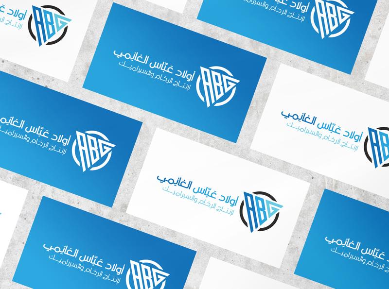 ABG Logo Design 💠 arabic logo design branding عربي brand design branding design brand identity stones ceramics ceramic