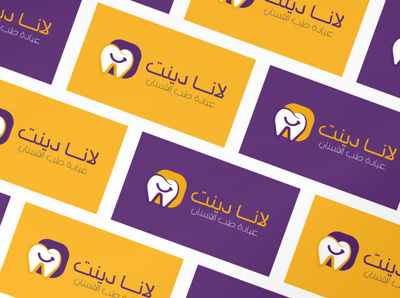 Lana dent Logo Proposal 🦷 branding arabic logo design social media عربي social media pack brand identity medical doctor dental clinic dentistry dental