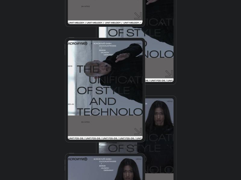ACRNM | Ipad webdesign typography mobile ecommerce photo concept minimal clean design web creative ux ui