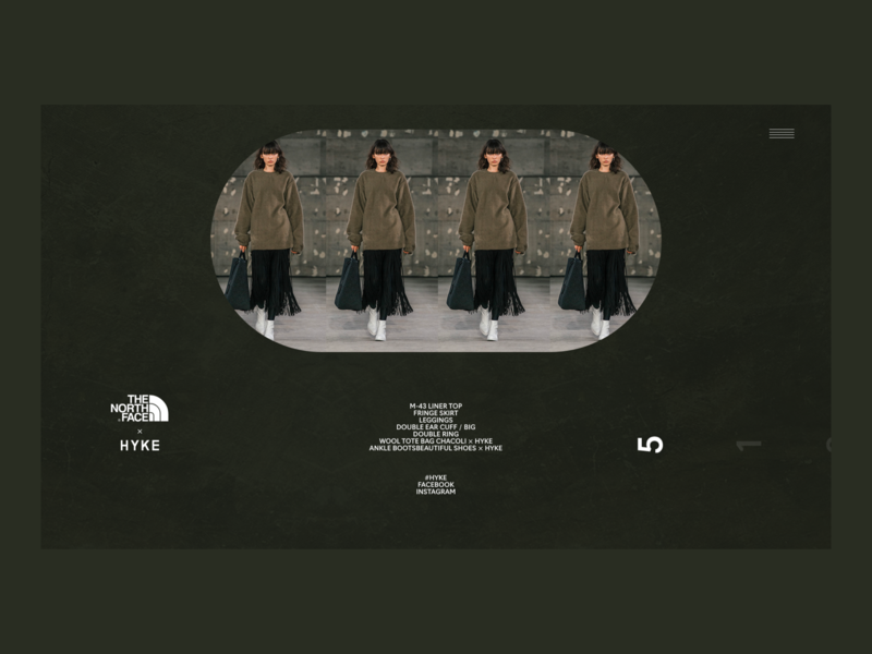 HYKE | Desktop | Collection promo desktop fullscreen webdesign typography ecommerce concept minimal clean design web creative ux ui