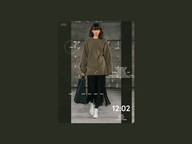 HYKE | Ipad | Index webdesign portfolio promo mobile typography ecommerce photo concept minimal clean design web creative ux ui