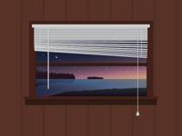 Leech Lake Cabin Window