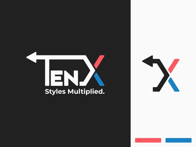 TenX blue red minimal branding logo flatdesign minimalistic illustration art adobe illustrator illustration vector design