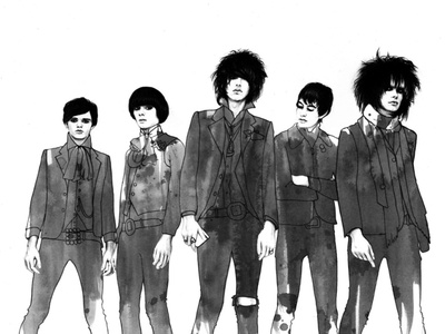 The Horrors the horrors ink drawing ink pencil illustration pencil drawing illustration hand drawn graphite drawing black and white