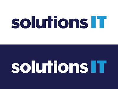 solutionsIT - Logo branding solutions it logo