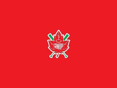 Canada Baseball Sticker eh baseball canada maple leaf