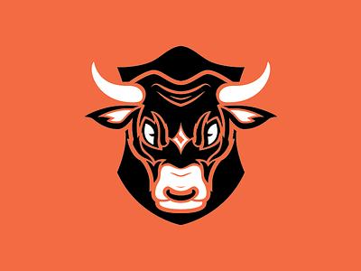 Juggernaut Jerky - Logo logo branding juggernaut cow bull jerky