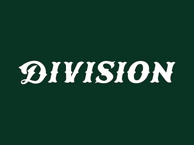 Division Baseball Logo typography spur baseball logo