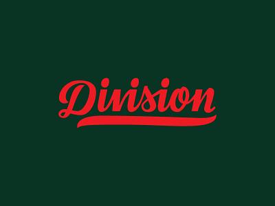 Division Baseball Script Logo script typography spur logo baseball