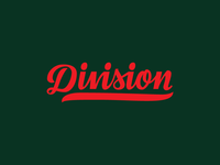 Division Baseball Script Logo