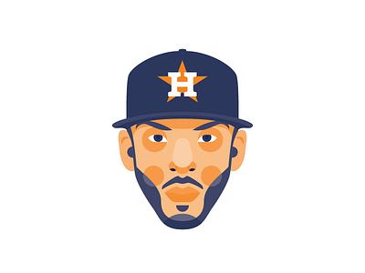2017 World Series - Carlos Correa mlb carlos correa world series baseball