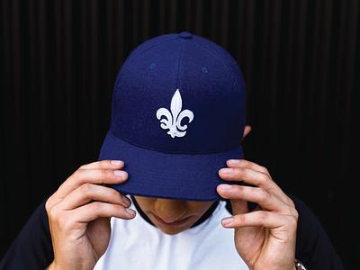 Quebec City Capitals - Baseball Cap sports branding logo monogram fleur de lis capitals quebec city baseball cap baseball