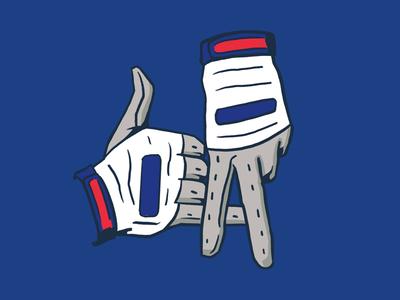 LA Batting Gloves hand signs batting gloves dodgers la los angeles sports illustration mlb design baseball