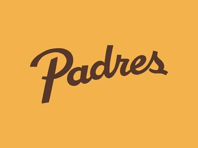 San Diego Padres Script design branding typography illustration mlb sports logo baseball