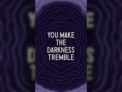 Darkness - Wallpaper darkness wallpaper sans serif typography design illustration