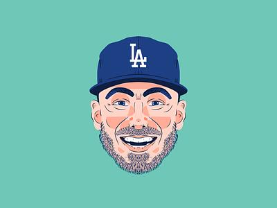 Cody Bellinger - 2019 procreate portrait illustration los angeles la dodgers baseball