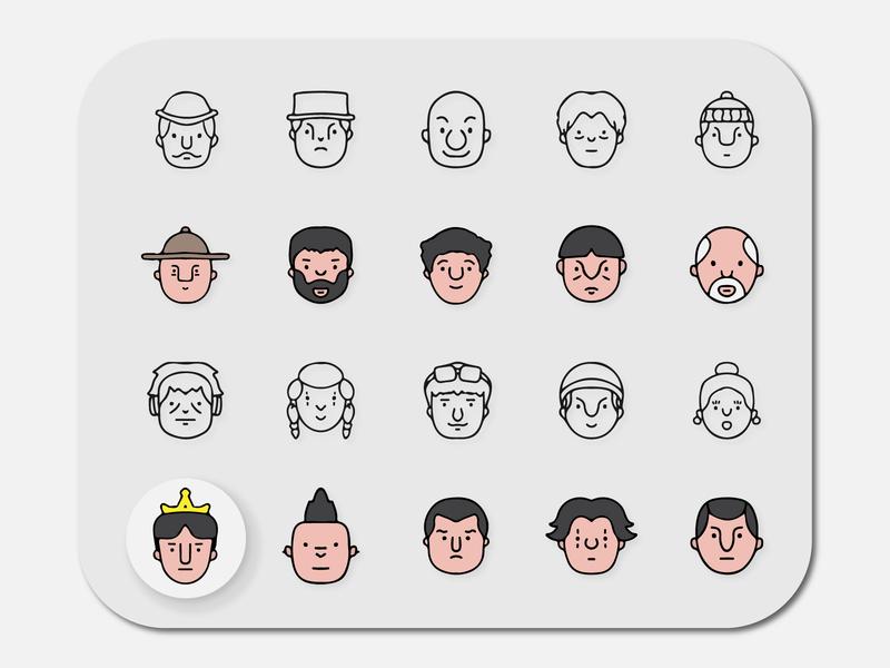 Avatar Vol.1 - Handdrawn Style profile icon people icons charactersdesign characters character icon sets icons set doodleart doodle avatar design hannddrawn icon icons avatar icons icon pack iconset avatars avatar