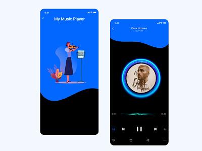 Mobile App Music Player motion music app music player music mobile app app design mobile ui design ui ux