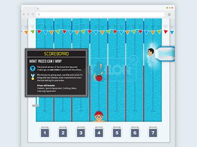 Decathlon Squared (3 of 3) website parallax illustration animation design