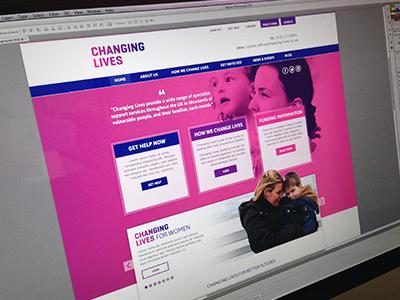 Changing Lives Website website ui ux user interface design responsive