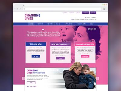 Changing Lives website ui ux user interface design responsive