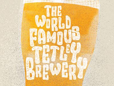 Tetley Brewery Illustration illustration design hand drawn typography