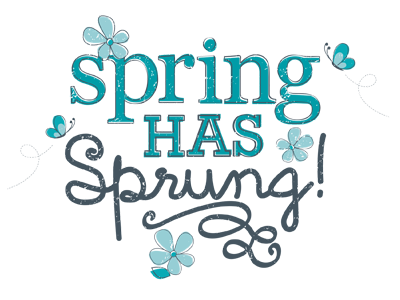 Spring has Sprung illustration design typography