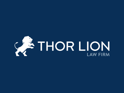 Thor Lion Logo Concept 1 logo design vector flat branding law