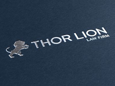Thor Lion Logo Concept 1 (Mock up) logo design vector flat branding law