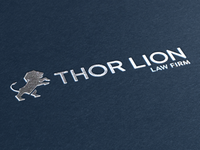 Thor Lion Logo Concept 1 (Mock up)