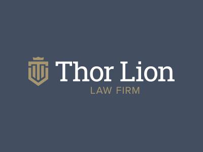 Thor Lion Logo Concept 2 logo design vector flat branding law