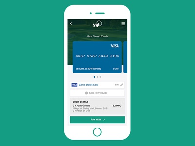 Golf Travel - Checkout Process #dailyui #002 digital web ui ux user interface mobile dailyui 002