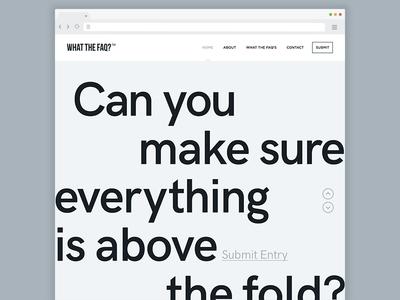 What the FAQ? - Landing Page #dailyui #003 web ux user interface ui website desktop digital dailyui 003