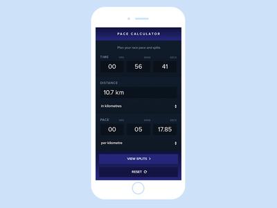 Run Pace Calculator #dailyui #004 web ux user interface ui mobile digital dailyui 004