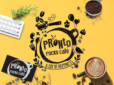 Branding for Pronto Rocks Cafe branding illustration design logo