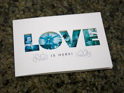 2014 K-LOVE/Air1 Christmas Card christmas christmas card typography k-love air1