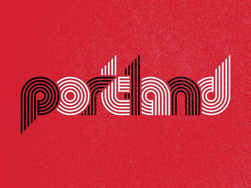 portland typography logo illustration trailblazers portland