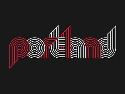 Portland 2 type design typeface blazers portland