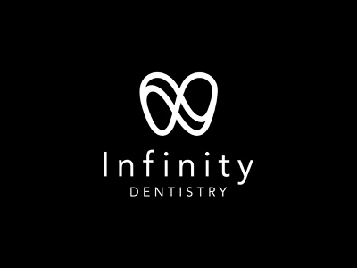 infinity dentistry infinity dental minimal flat vector branding logo design
